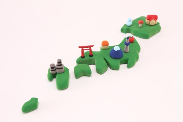 日本地圖示意圖