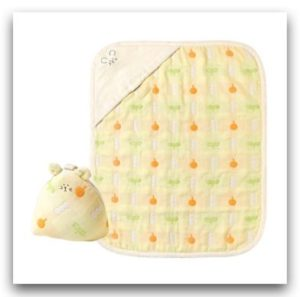 Hoppetta 六層紗動物小蓋被蘑菇手帕禮袋組