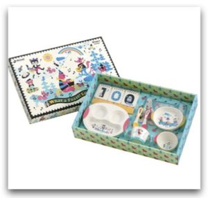Richell 嬰兒餐具禮盒