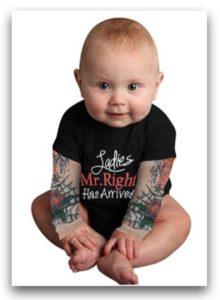Sakuranbo-偽刺青長袖嬰兒服