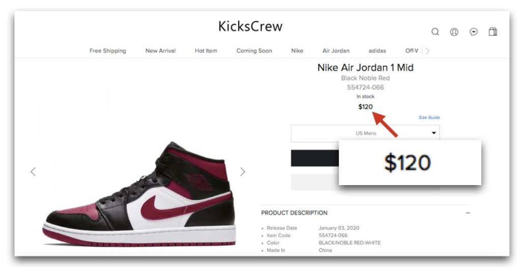 KicksCrew-Nike Air Jordan 1 Mid