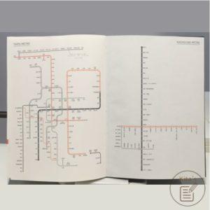 2021年手帳開箱 手帳內頁 台北、高雄 捷運路線圖