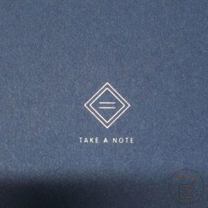 2021年手帳開箱 手帳本體 封面燙印logo-Take A Note