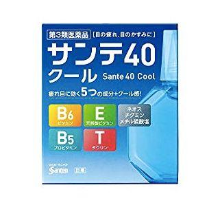 參天 維生素涼感眼藥水 Sante 40 Cool(サンテ40クール)