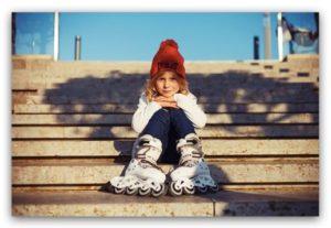 從小學習直排輪,有助兒童身心健康成長(示意圖)