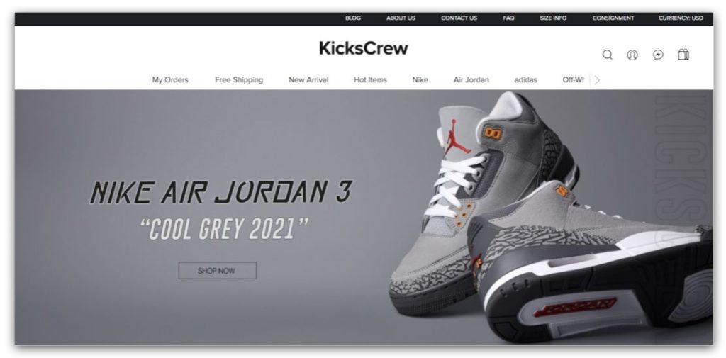 潮鞋網站推薦_Kickscrew 官網首頁_2021