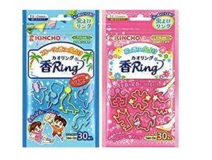 日本防蚊液 - 防蚊手環、貼片 - KINCHO 金鳥 驅蚊手環(虫よけ カオリング)