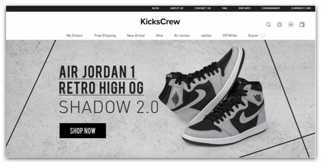 潮鞋網站推薦_Kickscrew 官網首頁_202106