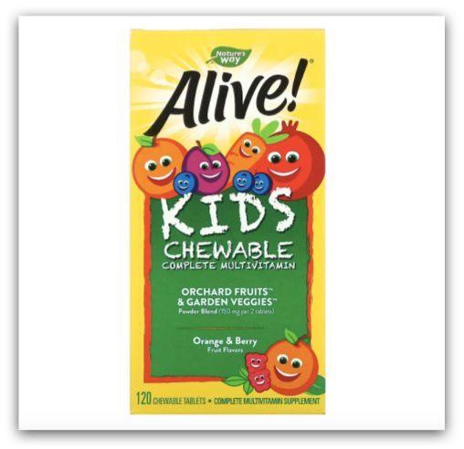 iHerb - Alive! 兒童完整多維生素咀嚼片